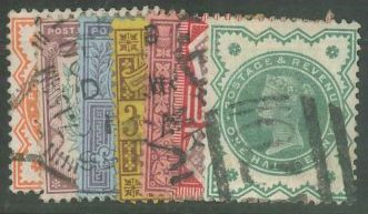 1887 QV SG197-214 (14) ½d - 1/- Jubilee set good used (Ref ES116)