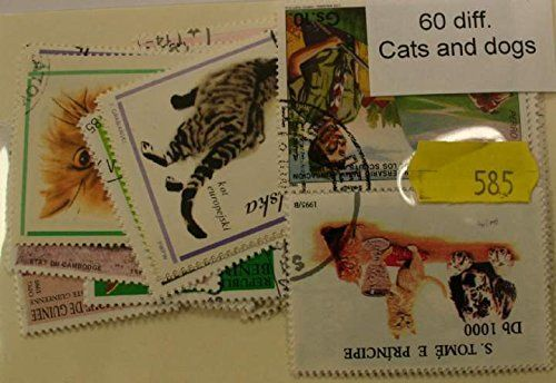 Dogs + Cats 60 Stamps (585)