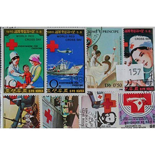 Red Cross Stamps 50 Stamps (157)