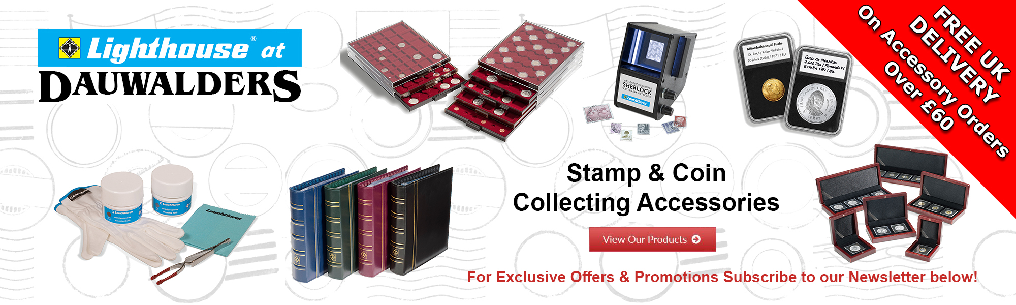 Stamp and coin collecting accessories